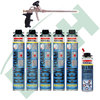 Soudal Flexi Set 2: 5 x 750ml Soudal Flexifoam Flexischaum + Pistole + 500 ml Reiniger